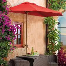 Patio Half Umbrella Outdoor Half Umbrella With Pole Grandin Road