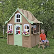 Backyard Play Houses by Wooden Playhouses Backyard Kids Wendy House Gps Outdoor Summer