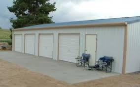 4 car garage steel metal 4 car garage with shop building kit ebay