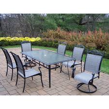 High Back Sling Patio Chairs by Oakland Living Cascade 9 Piece Sling Patio Dining Set Hayneedle