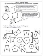 Similar And Congruent Figures Worksheet Maths Free Maths Worksheets Resources And Reviews Part 27