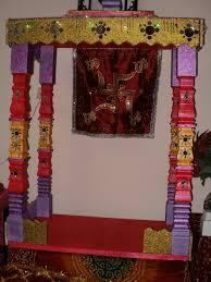 Home Ganpati Decoration Thermocol Decoration Ideas Decornuate