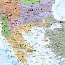 European Continent Map by Continental Series Europe Wall Map Xyz Maps