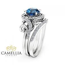 blue topaz engagement rings london blue topaz engagement ring set unique 14k white gold topaz