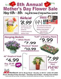 flower coupons 8th annual s day flower sale roselle ace hardware