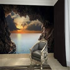 Painting Boat Interior Painting Mural Living Room Wall Elegant White Leather Sofa Wood