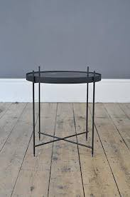 contemporary metal and marble print glass side table u2013 forest london
