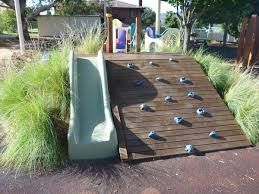 natural playscape with slide playscape ideas pinterest