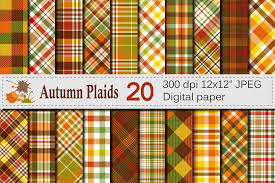 Plaids Autumn Plaid Digital Paper Fall Plaid Patterns By Vr Digital