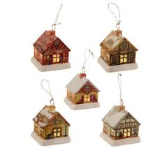 mr set of 5 tin house ornaments with led lights page