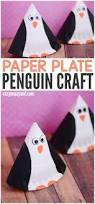 rocking paper plate penguin craft easy peasy and fun