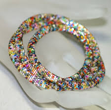 bead bracelet crochet images Create a very basic bead crochet chain jpg
