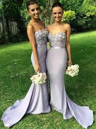 lavender bridesmaids dresses buy mermaid strapless sweep lavender bridesmaid dress with