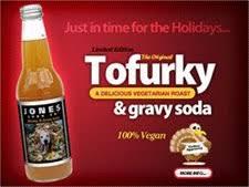 jones soda goes vegan for the holidays with tofurky gravy flavor