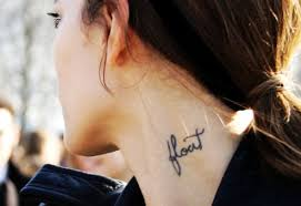 black neck small quote tattoos for black neck small
