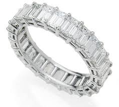 diamond eternity rings images Emerald cut diamond eternity ring in platinum exclusive diamonds jpg