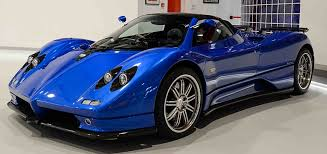 blue pagani zonda pagani zonda s rhd roadster for sale cars cars