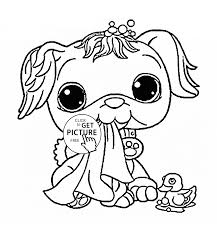 littlest pet shop funny dog coloring page for kids animal