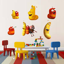 compare prices on wallpaper for nursery room online shopping buy cute 3d larva wall sticker for kids room school classroom decoration removable nursery wallpaper decals perfect