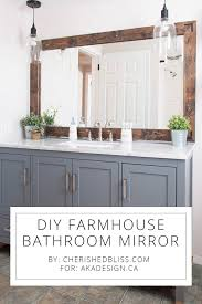 bathroom mirror design diy farmhouse bathroom mirror tutorial