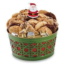 cookie basket cookie gift baskets green lattice metal basket with 24 cookies