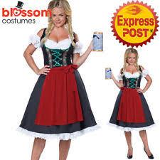 Beer Maid Wench Costume Oktoberfest Couple Gretchen German Fancy by Unbranded Oktoberfest Costumes For Women Ebay
