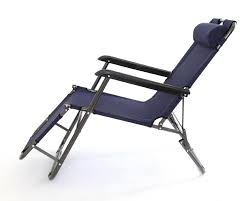 2 x charles jacobs stylish sun lounger reclining chairs navy