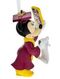 disney ornament graduation minnie mouse selfie