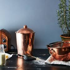 blue kitchen canisters hammered copper kitchen canister on food52