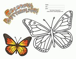 monarch butterfly coloring page for kids free printable picture