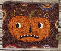 112 best rug hooking pumpkins images on pinterest rug hooking