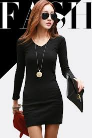 zumeet women u0027s fit bodycon full sleeves short dress black zumeet