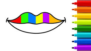 how to draw lips mouth learn colors with drawing coloring pages