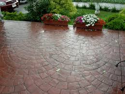 Backyard Stamped Concrete Ideas Services Pg Decorative Concrete Com The Areas Leading Stamped