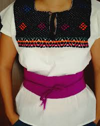 embroidery mexican blouse and mexican belt package white
