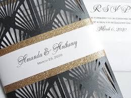 great gatsby wedding invitations great gatsby