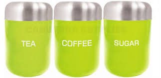 Green Kitchen Canister Set Zodiac Kitchen Tea Coffee Sugar Storage Canister Jar Container Set