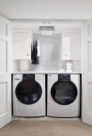Basement Bathroom Laundry Room Combo Small Bathroom Design With Washer And Dryer Stainless Steel Mosaic