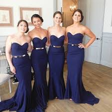 navy blue bridesmaids dresses sweetheart meamaid bridesmaid dresses fancy navy bridesmaid