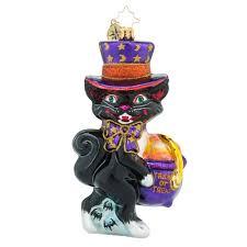 christopher radko ornaments radko midnight treats cat halloween