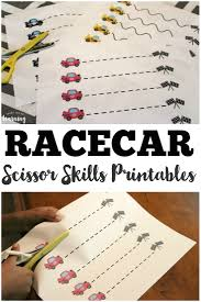 racecar scissor skills printables look we u0027re learning