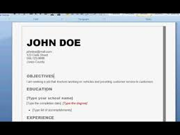 How To Write A Job Resume For A Highschool Student by How To Write A Good Resume Youtube