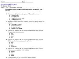 nouns and pronouns worksheet worksheets