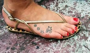 64 phenomenal star tattoos on foot