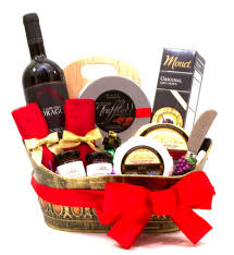 Wine And Cheese Basket Gift Baskets Vancouver Canada Creative Gift Solutions