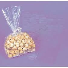 popcorn favor bags express lot of 50 clear cellophane cello party