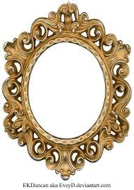 vintage gold and silver frame oval by eveyd on deviantart