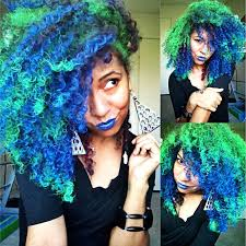 Combination Of Blue by Amazing Dye Jobs For African American Hair Purple Rain Kelly