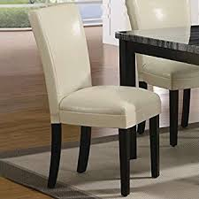 Leather Parson Dining Chairs Coaster Set Of 2 Parson Dining Chairs In