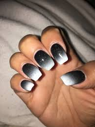 black and white ombré nails nails pinterest
